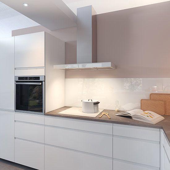 Ambiance Pure En 2020 Cuisine Moderne Blanche Cuisine Equipee Moderne Cuisine Appartement