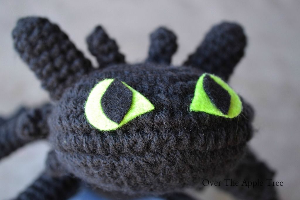 Crochet Toothless From How To Train Your Dragon Over The Apple Tree