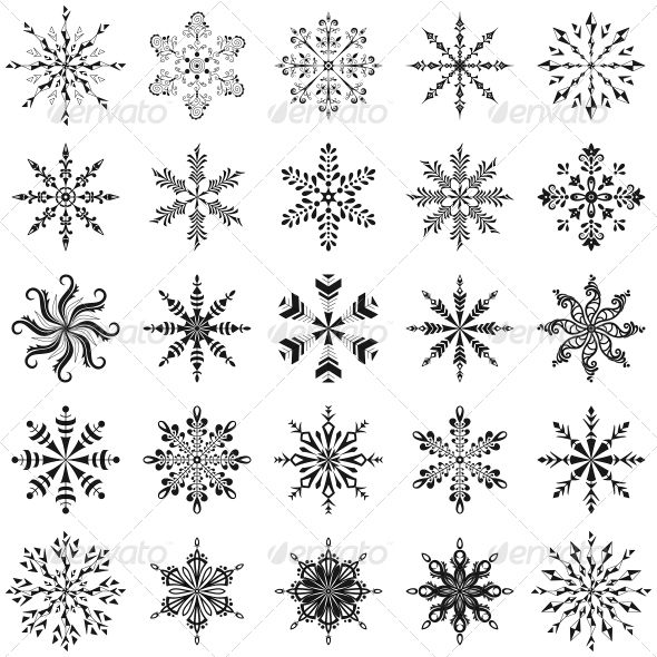 Simple Snowflake Line Art : Simple snowflake line drawing linepc