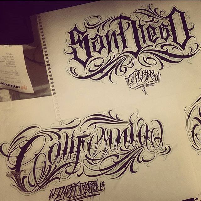 Graffiti Tattoo Lettering Generator: This Guy Knows His Lettering @enemigoinfame @enemigoinfame