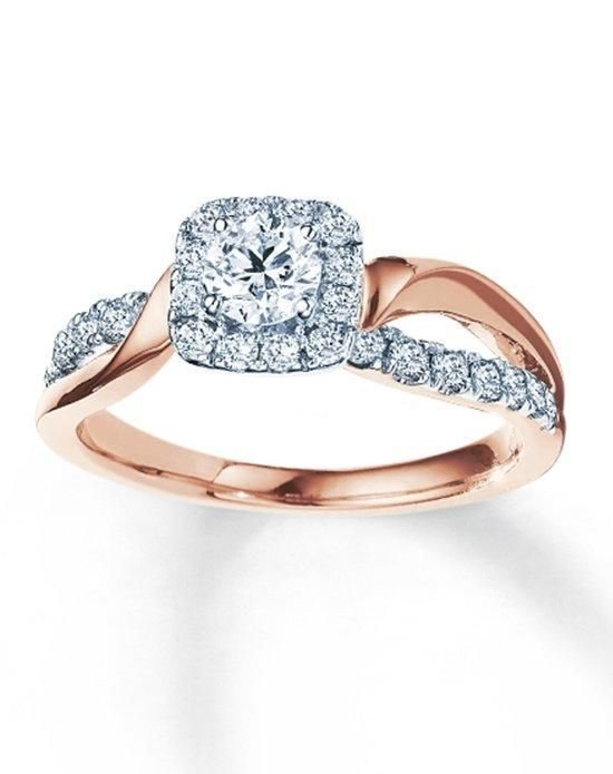 Kay Jewelers Engagement Ring In Rose Gold With Round Cut I Style