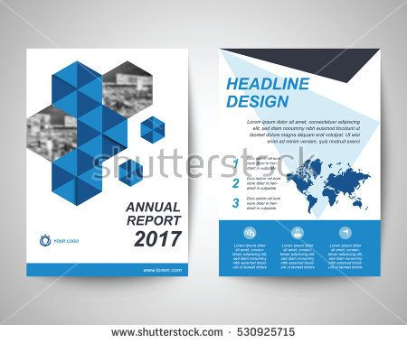 stock-vector-blue-and-black-abstract-flyer-with-people-background - annual report cover page template