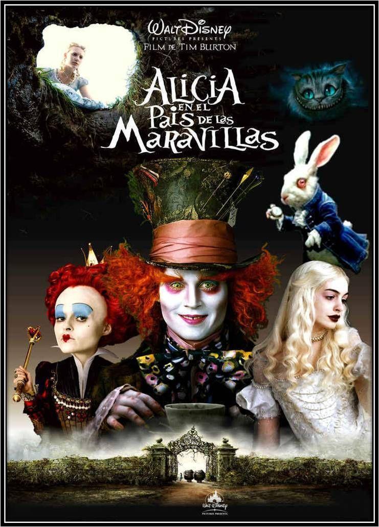 Alicia En El Pais De Las Maravillas Videograbacion Una Pelicula De Tim Burton Mad Peliculas Fantasia Alicia En El Pais De Las Maravillas Peliculas De Disney