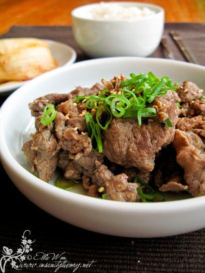 Bulgogi (traditional Korean bbq beef) - can replace the ...
