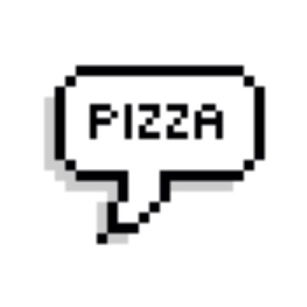 Pizza Speech Bubble We Heart It Pixel Speech Bubble Text Bubble Speech Bubble