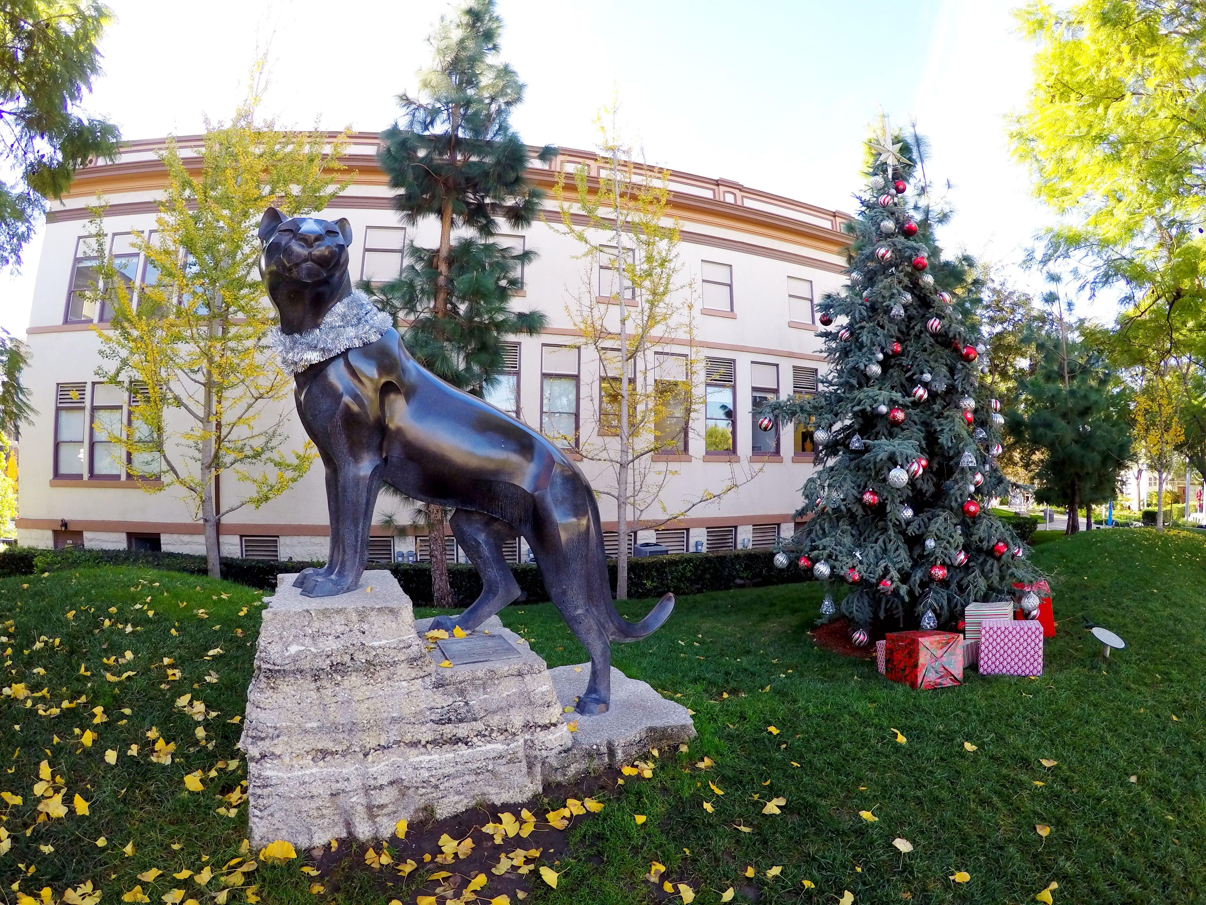 Holiday spirit on Chapman University Campus CU Holiday