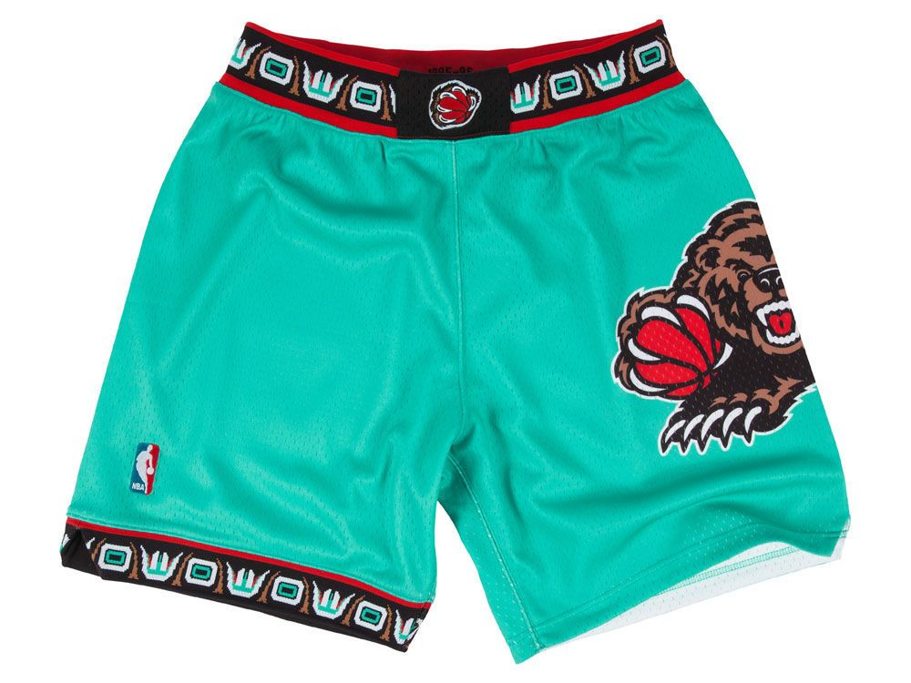 Vancouver Grizzlies Mitchell And Ness Nba Men S Authentic Nba Shorts Basketball Shorts Shorts Grizzly