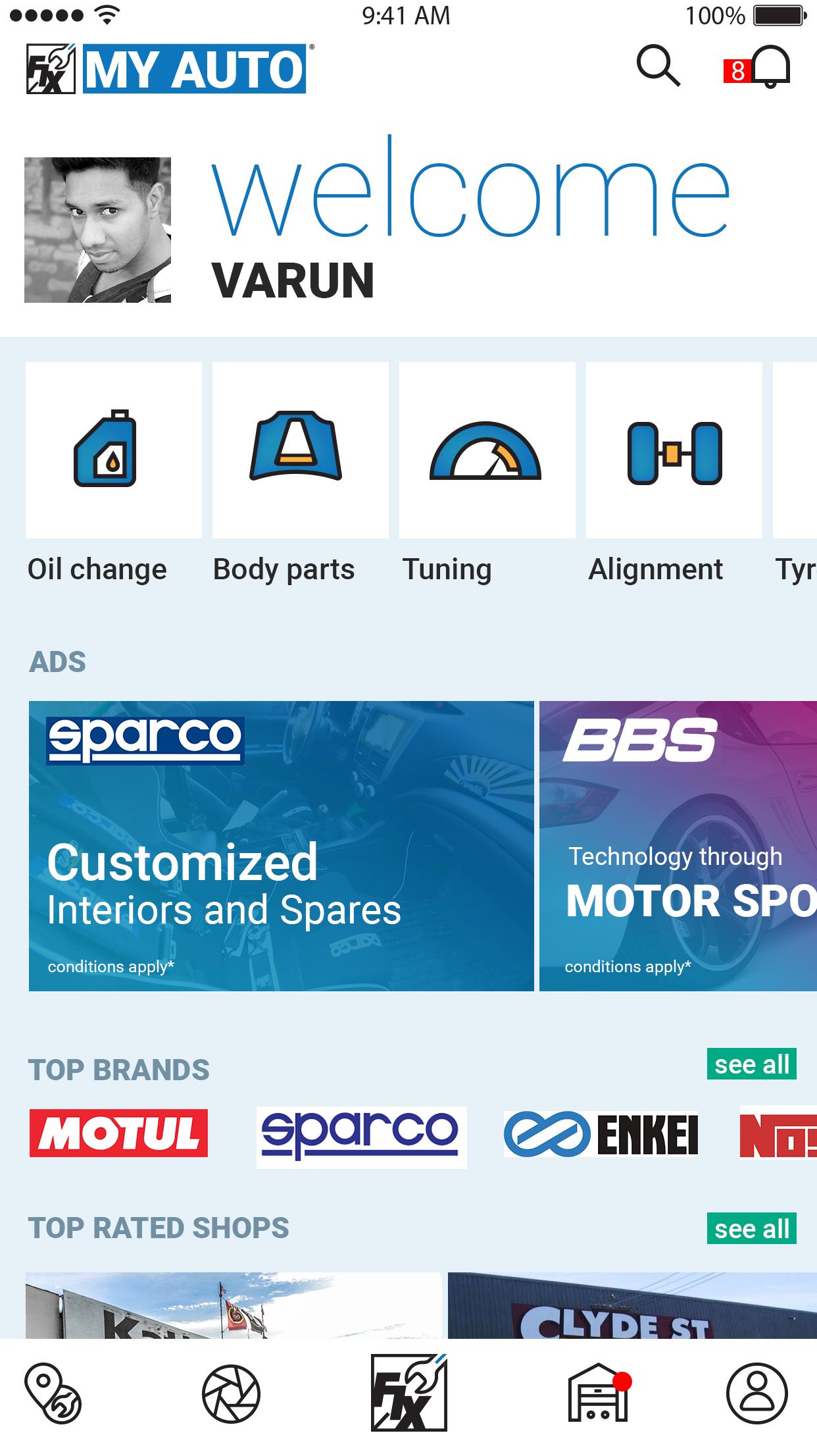 Fix My Auto - IONIC 3 Template   Repair, Oil change, Car