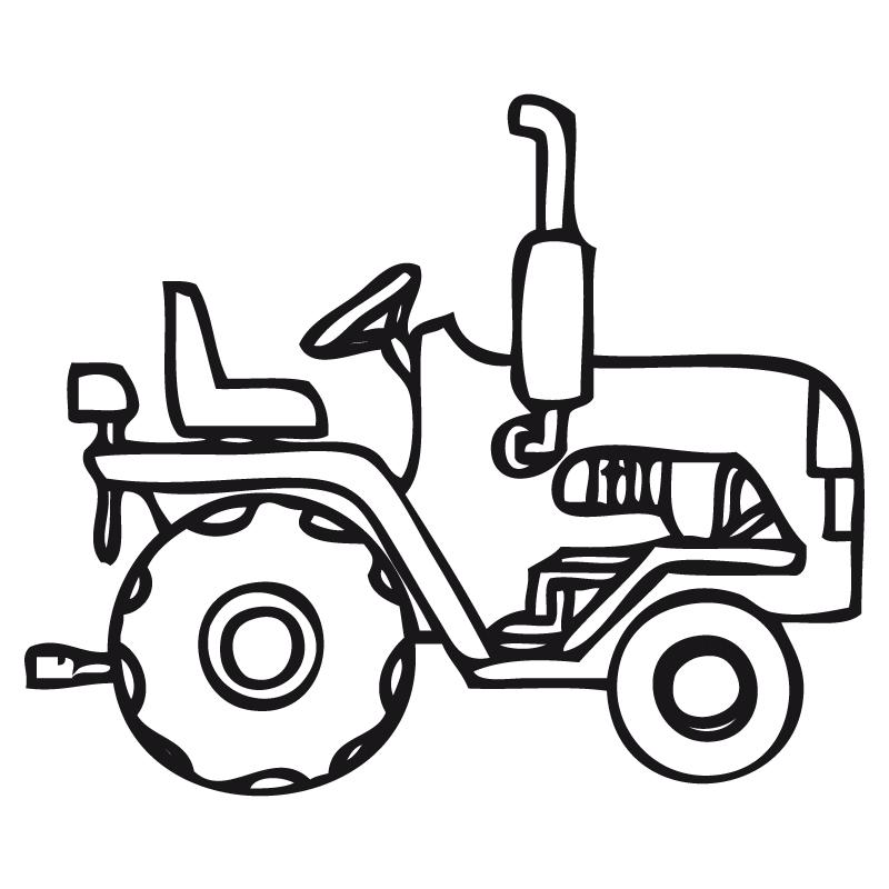 Tractores Para Pintar | Pintar imágenes | Dibujos para colorear ...