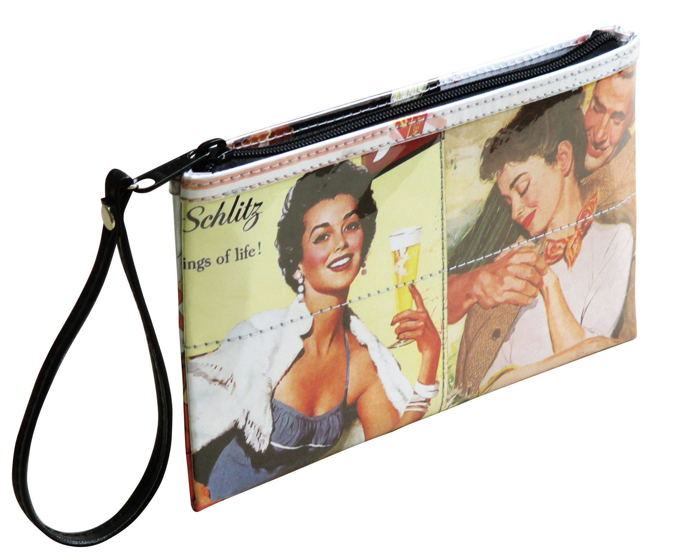 This medium size wristlet is made using images colorful