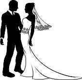 Clipart Of Bride And Groom Silhouette K6674855