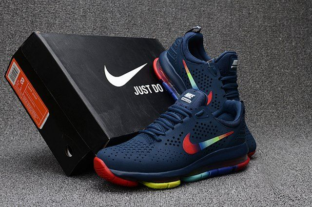 finest selection e032e 59e19 Nike Air Max DLX Deluxe Navy Blue Multi-Color Men s Running Shoes