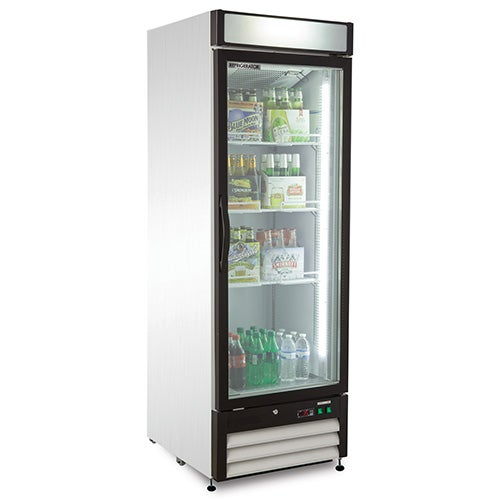 Kratos Refrigeration 69k 726 Hinged Glass Door Merchandiser 1 Door 27w 23 Cu Ft White Exterior In 2020 Glass Door Glass Front Refrigerator Glass Door Refrigerator