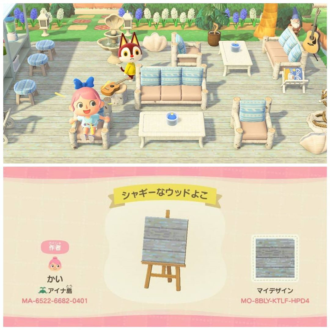 Animal Crossing Acnh Codes On Instagram Love This Wooden Plank Great For Boardwalks The Blue Geo In 2020 New Animal Crossing Animal Crossing Game Animal Crossing