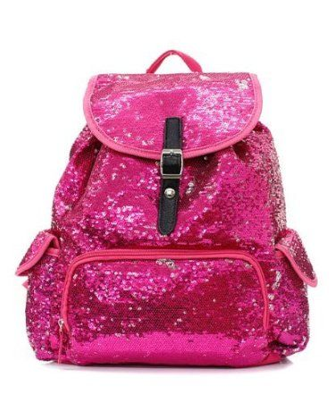 Pink Sparkly backpack | school things | Sequin