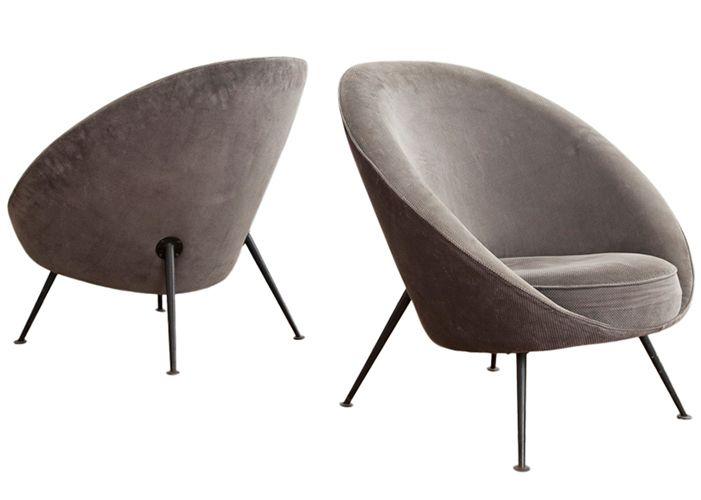 Mid Century Modern Italian Chair Ico Parisi Vintage Furniture
