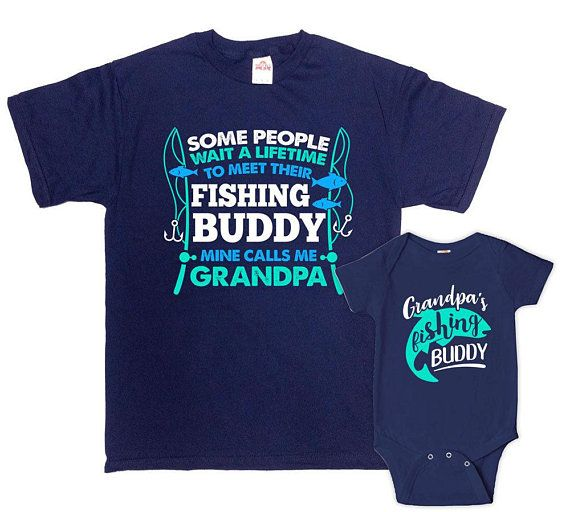 70a5a3d7d07c8 Grandpa And Grandson Shirts Matching Family Outfits Fishing Gifts ...