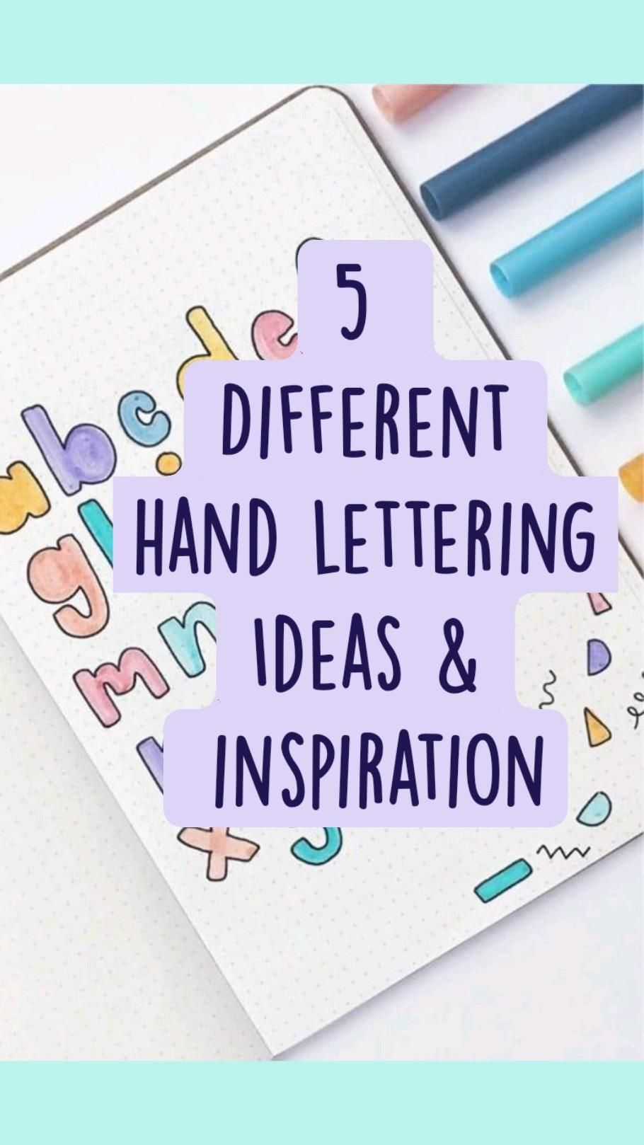 5  Different hand lettering Ideas &  inspiration