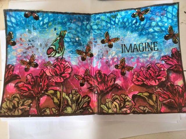 Art Journey Design-team: Veld met Tulpen