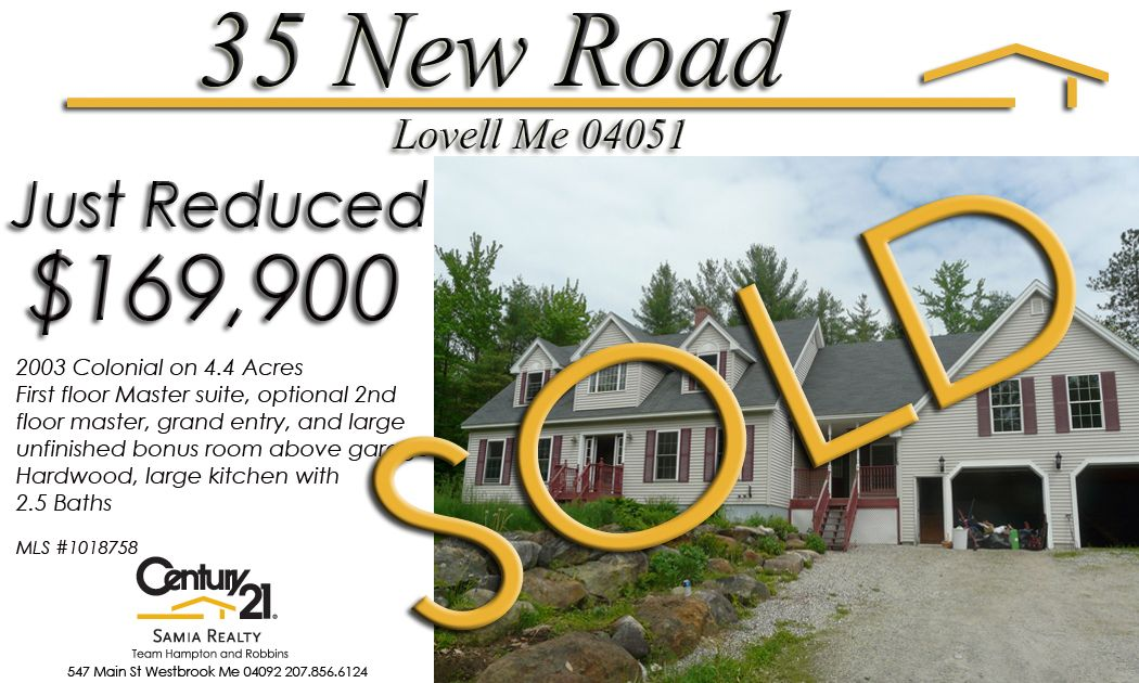 Huge Lovell Colonial on 5+ Acres. Sold price $149,900
