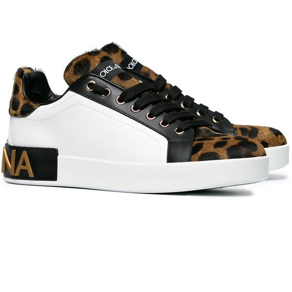 white leopard leather pony sneakers - Brown Dolce & Gabbana NXpYEbG7