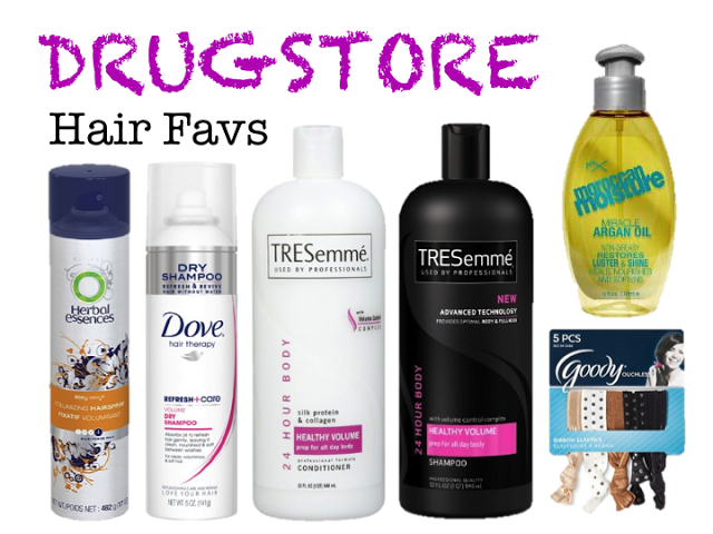 Hair Product Favs From The Drugstore Drugstore Hair Products Tresemme Shampoo Hair Tutorial