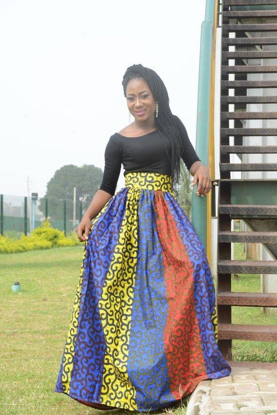 cc9ea9ca1a0 Dupe Ankara maxi skirt