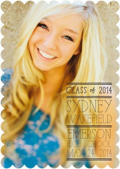 Shrewd Strokes - Graduation Announcements in Black or White | Robyn Miller
