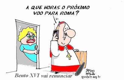 Bento XVI vai renunciar e Lula quer vaga