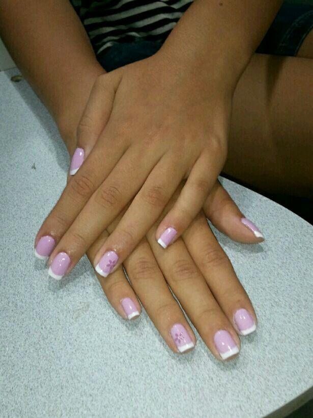 Cut cute french nail design <3 | Nails | Pinterest | French nails ...