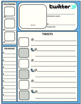 Twitter feed template english class template and english for Blank twitter profile template