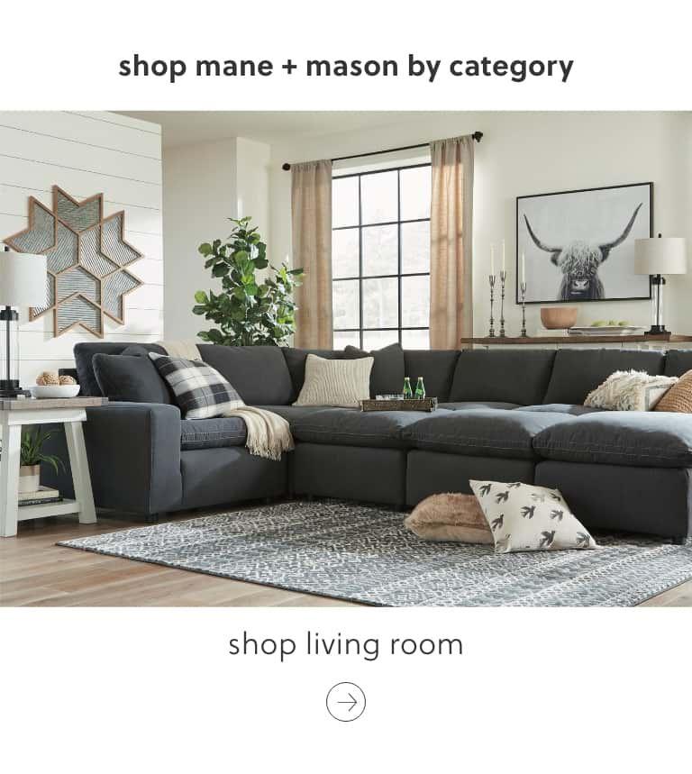 Ashley Furniture Mane Mason Modern Farmhouse Furniture Modular