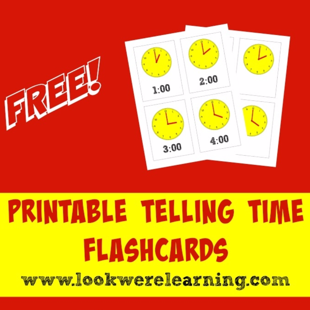 Printable Telling Time Flashcards For Kids