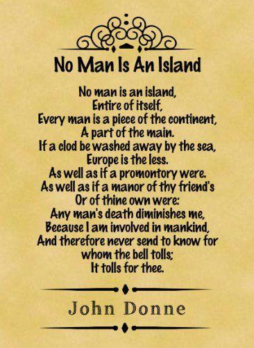 No Man is an Island by John Donne