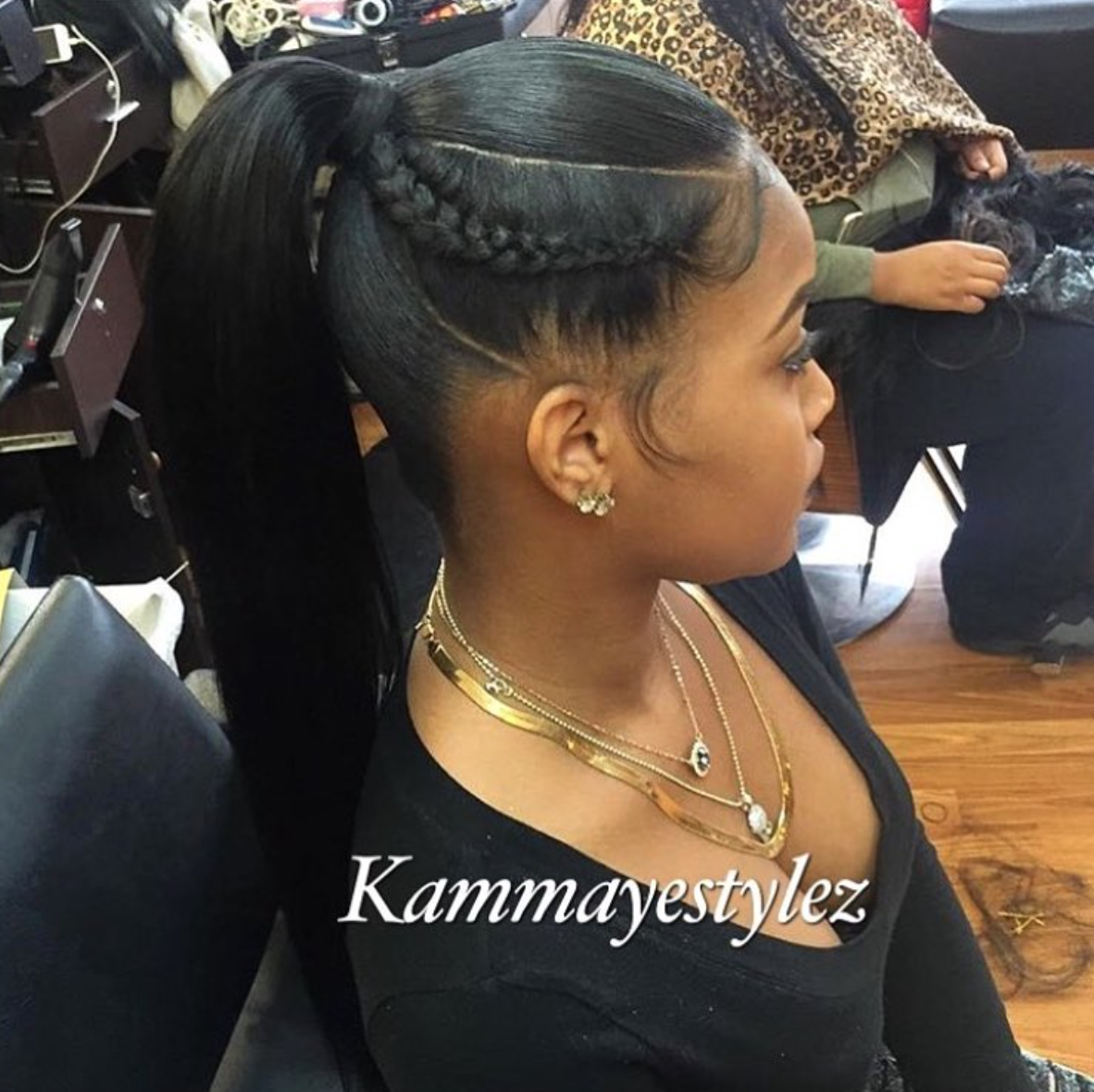 Black Ponytail Hairstyles Endearing Simple Yet Cute Via Kammayestylez Read The Article Here  Http