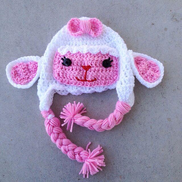 Lambie from Doc Mcstuffins crochet hat http://www.facebook.com ...