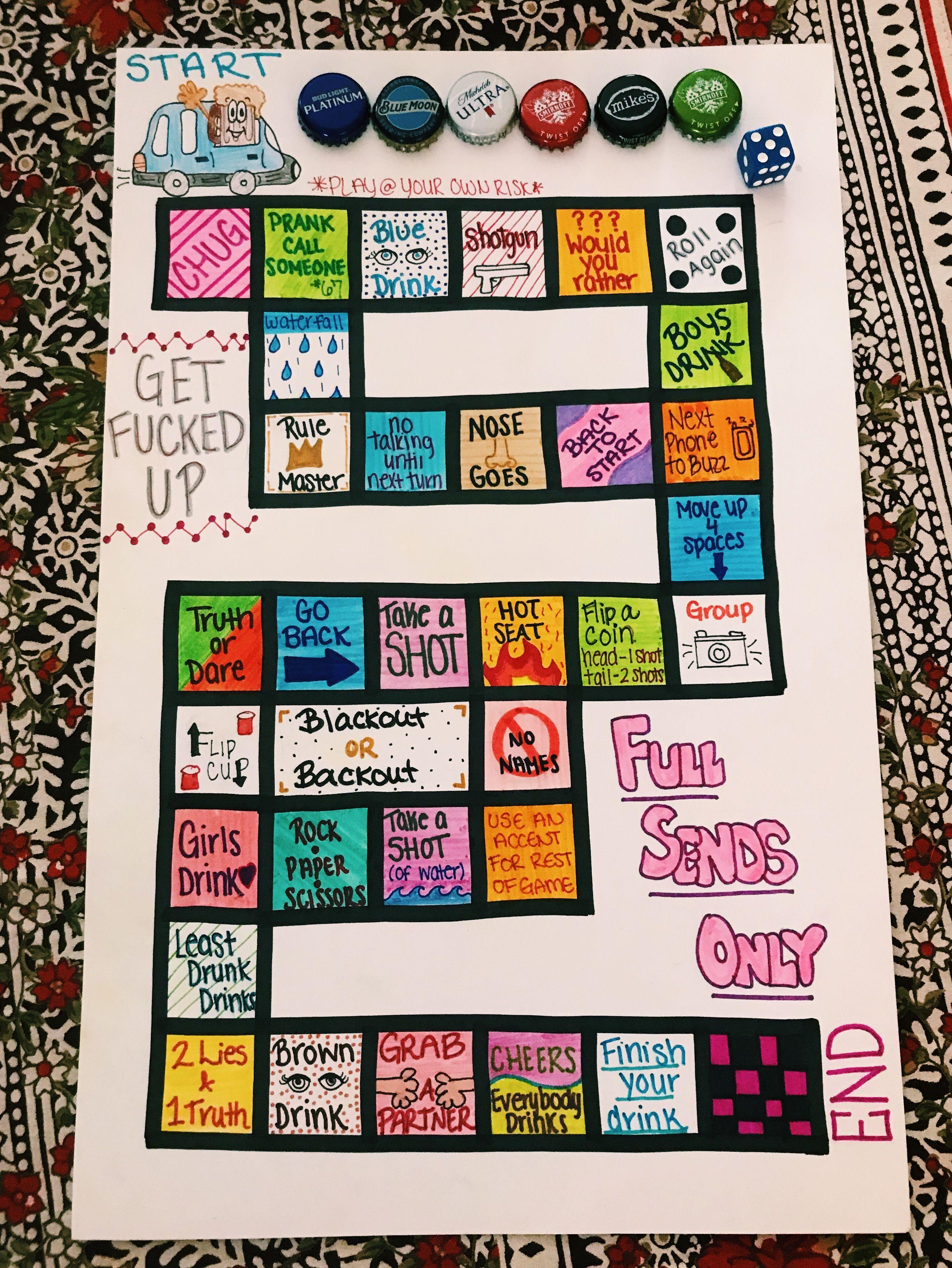 Drinking board game in 2020 drinking board games girls