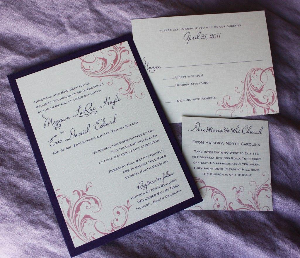 Pink And Purple Wedding | Purple and Pink Swirly Scroll Wedding ...