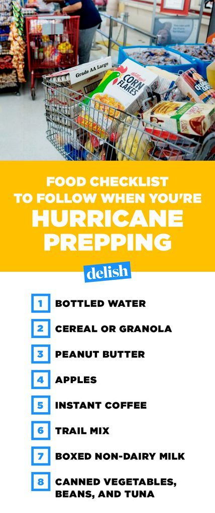 The Best Foods To Buy When You're Hurricane Prepping