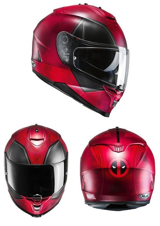 Marvel Deadpool Limited Edition Motorcycle Helmet  20d668a5fc5