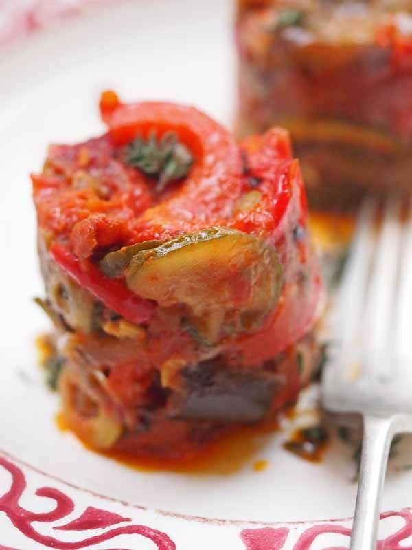 Ratatouille Puttanesca, simple Italian comfort food at its best www.larderlove.com