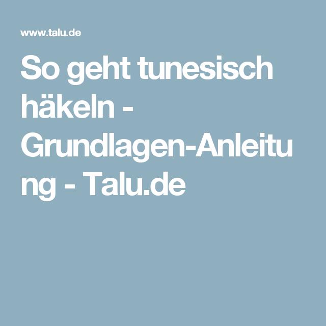 So Geht Tunesisch Häkeln Grundlagen Anleitung Häkelmuster