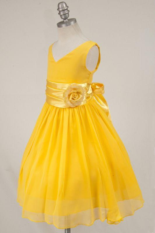 New Bridesmaid Dresses for Girls   yellow flower girl dress - new ...