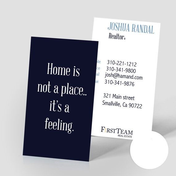 Ups Shipping Quote Home Is A Feeling Modern Realtor Business Cards  Gloss Or Matte