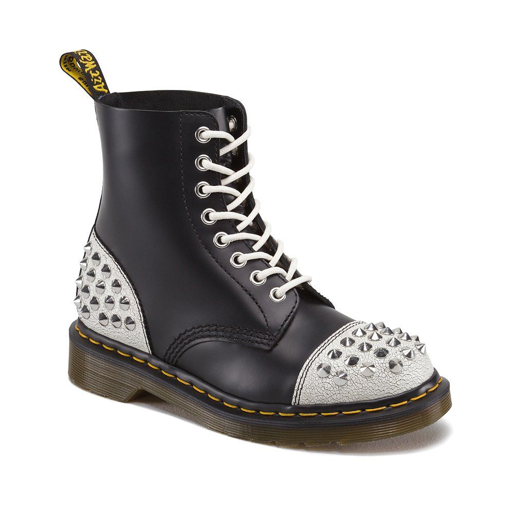 Accor accedere Glossario  Dr. Martens Dia Studded Toecap | Boots, Black suede boots, Womens boots