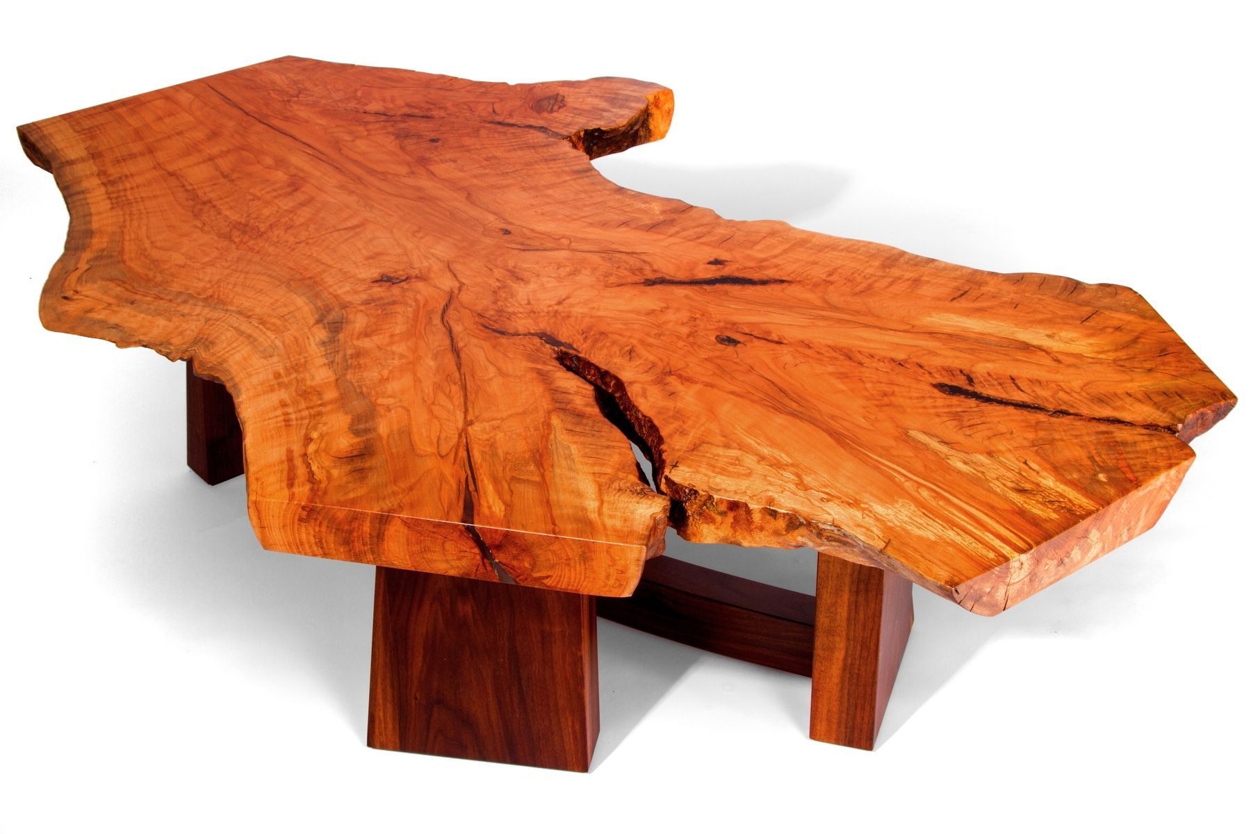 Custom Made Beech Slab Table Wood Slab Coffee Table