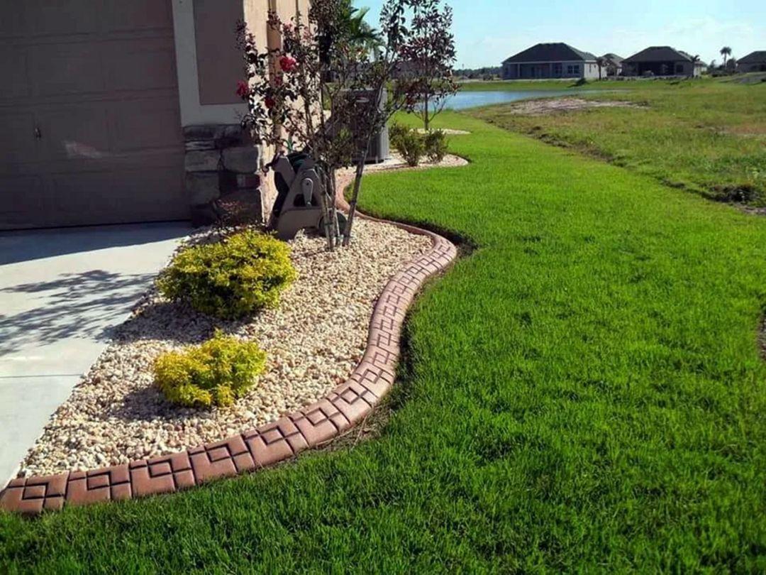 15 Incredible Lawn Edge Garden Ideas On A Budget Concrete Landscape Edging Landscape Curbing Landscape Edging