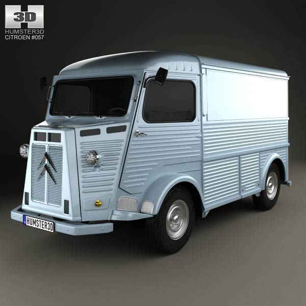 citroen h van 1964 3d model from price 75 citroen 3d models pinterest. Black Bedroom Furniture Sets. Home Design Ideas