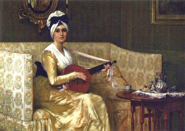 A Portrait of Mrs. Millet 1864 by Francis David Millet, 1864