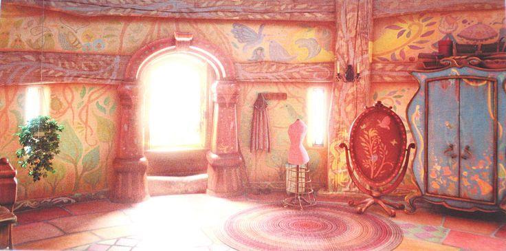 Tangled Tower Artwork Disney Background Walt Disney Characters Disney Concept Art